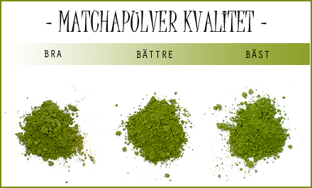 matcha pulver - kvalitet